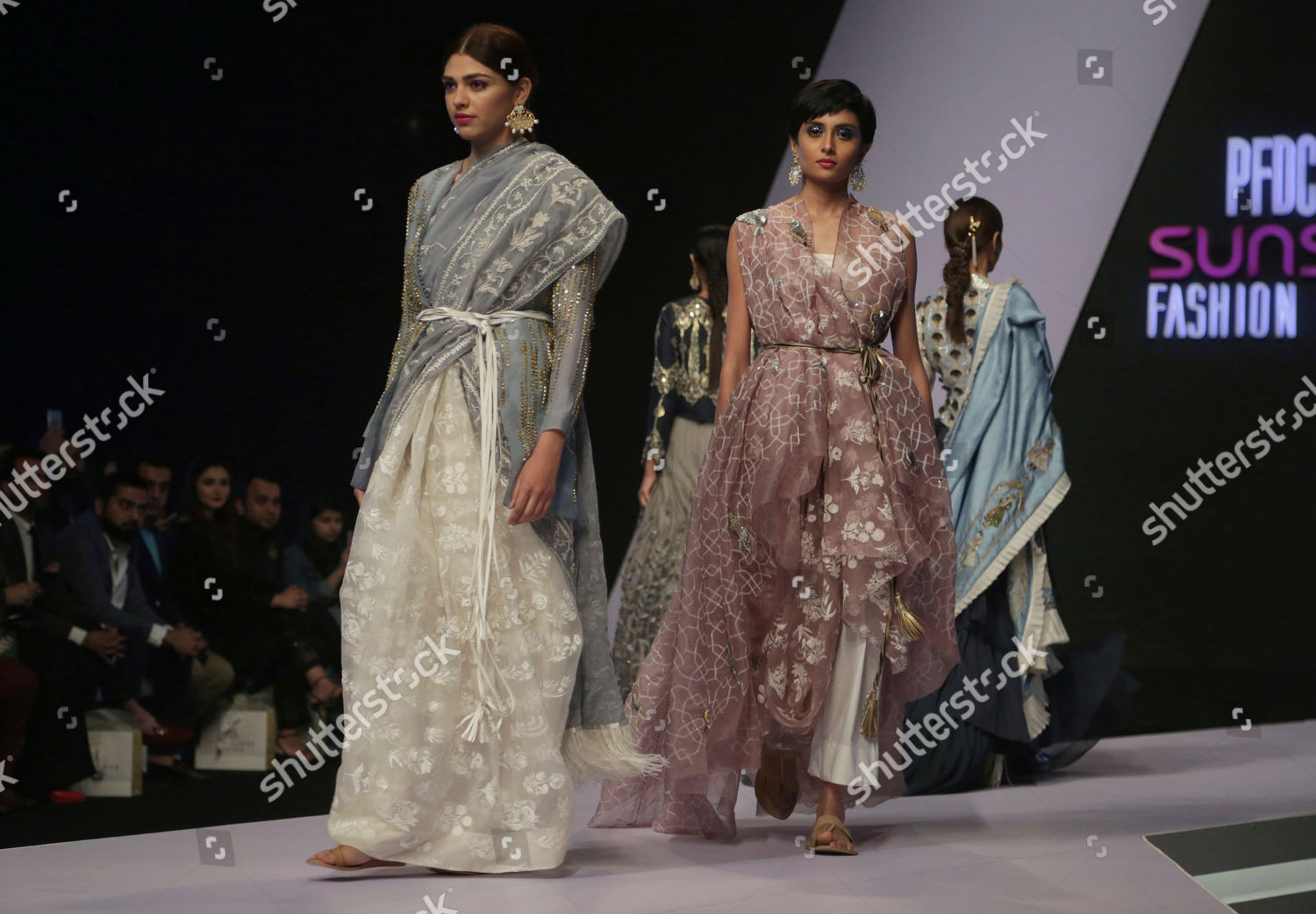 Models Present Creation By Pakistani Designer Nadia Editorial Stock Photo Stock Image Shutterstock