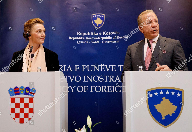 Marija Pejcinovic Buric Behgjet Pacolli Editorial Stock Photo