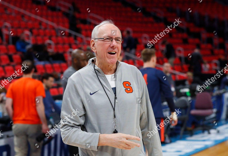 Syracuse Head Coach Jim Boeheim Watches During Editorial