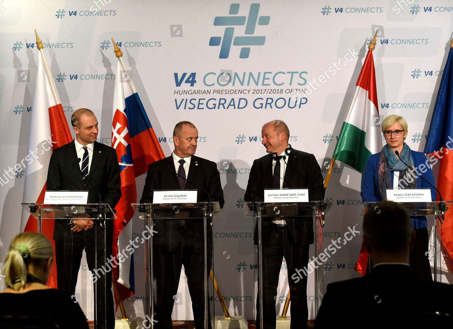 46c57730f Stock photo of Meeting of the defence ministers of the Visegrad Group (V4)  countries