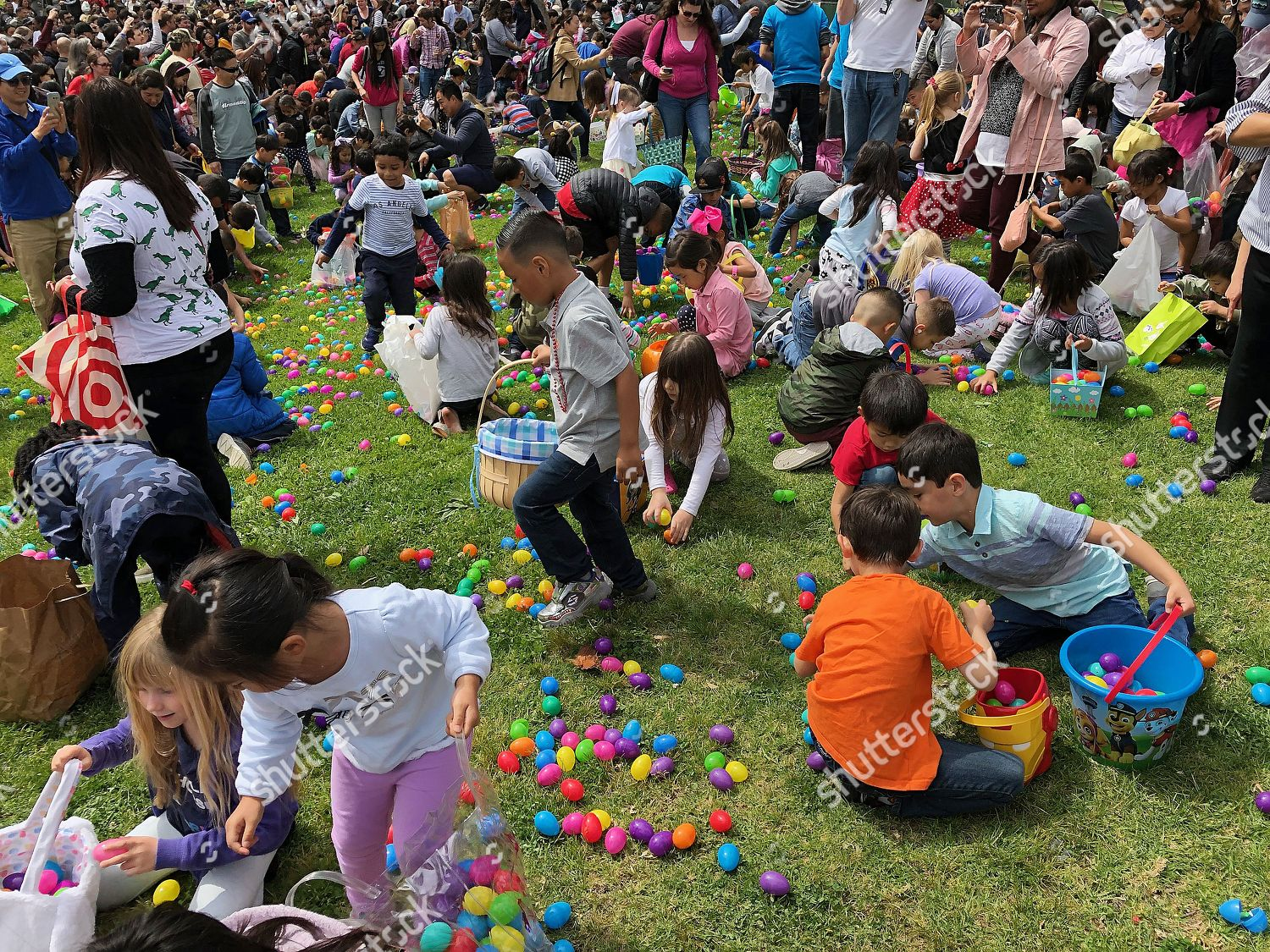 Children collect Easter eggs during Connection Point Editorial