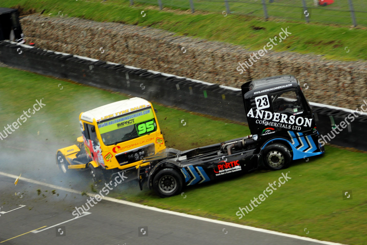 Brands Hatch Truck Racing >> Jamie Anderson Richard Collett 100 Mph Truck Editorial Stock Photo