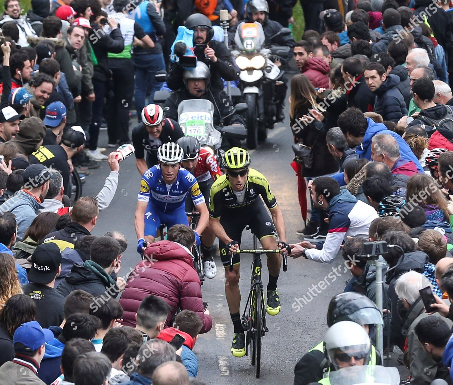 510e596d9 Riders action during sixth stage Basque Country Stock Photo ...