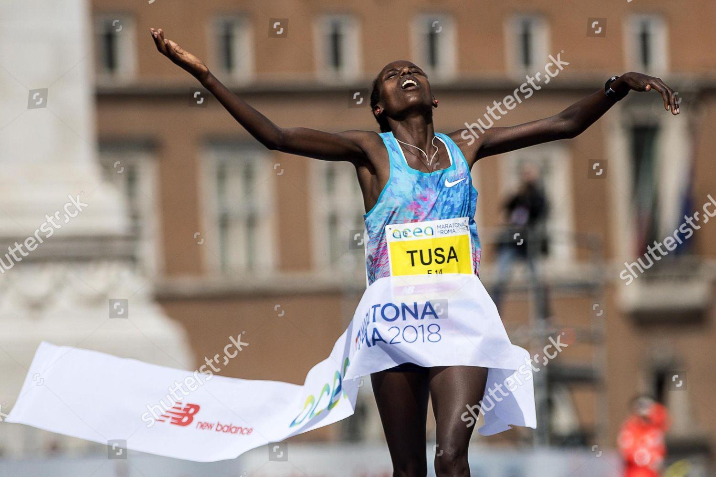 Ethiopian runner Rahma Tusa Chota wins XXIV Editorial Stock Photo ...