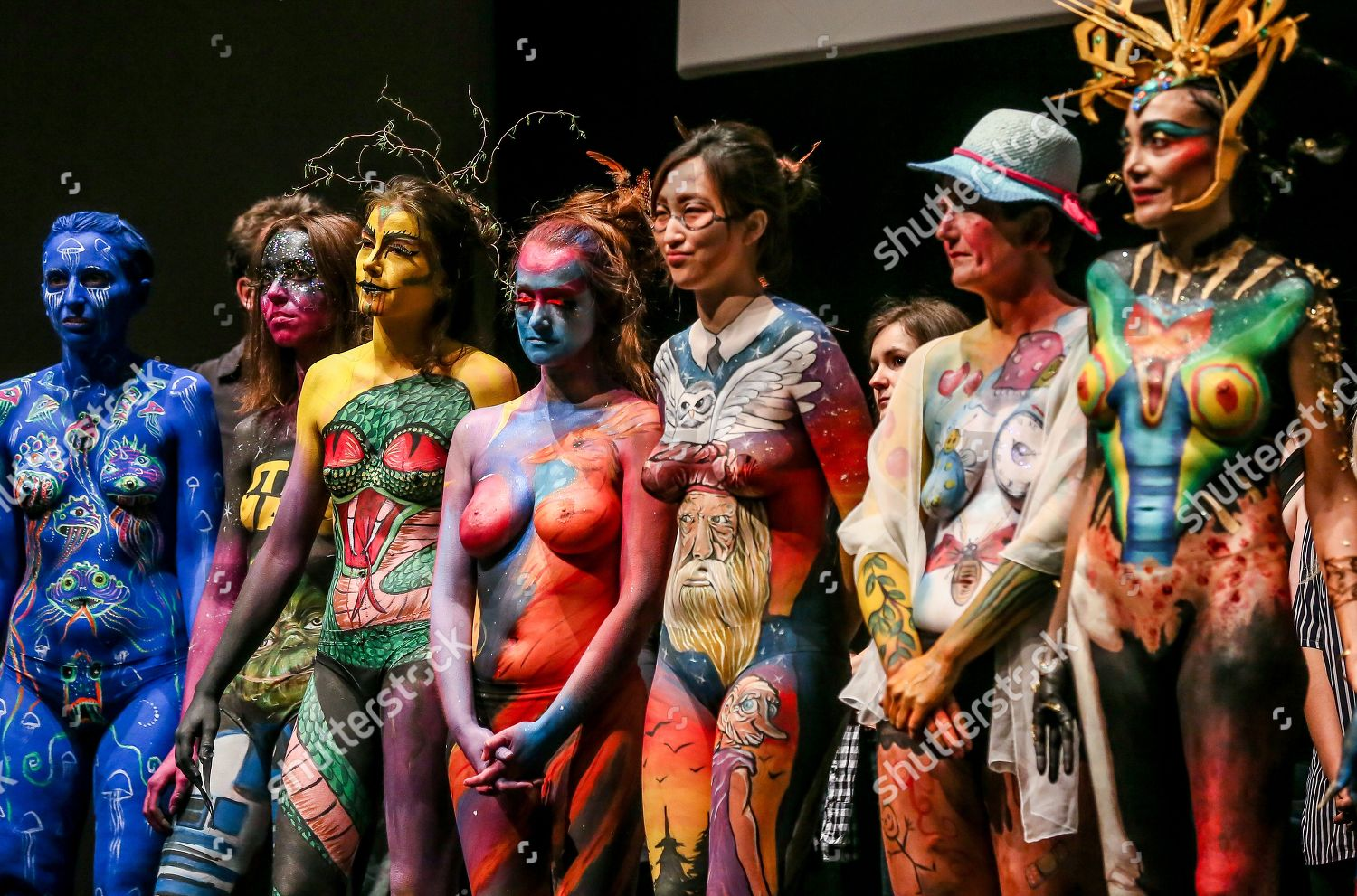 Models Present Bodypainting Creations During 36th Brussels Editorial Stock Photo Stock Image Shutterstock