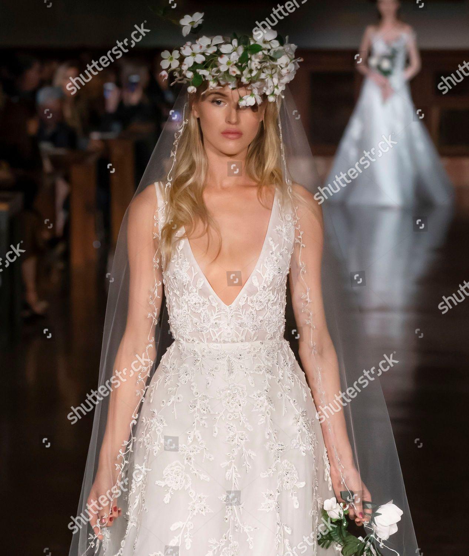 0a7b02e74b26 Reem Acra Bridal show, Runway, Spring 2019, New York Bridal Week, USA Stock  Image by Ovidiu Hrubaru for editorial use, Apr 12, 2018