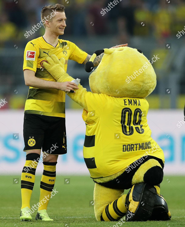 Dortmunds Marco Reus Celebrates Borussia Dortmund Mascot Editorial Stock Photo Stock Image Shutterstock
