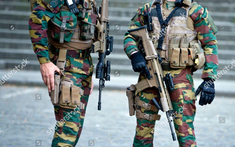 Belgian Army Load Bearing vest SIOEN ATLAS Terror-trial-brussels-belgium-shutterstock-editorial-9639796b