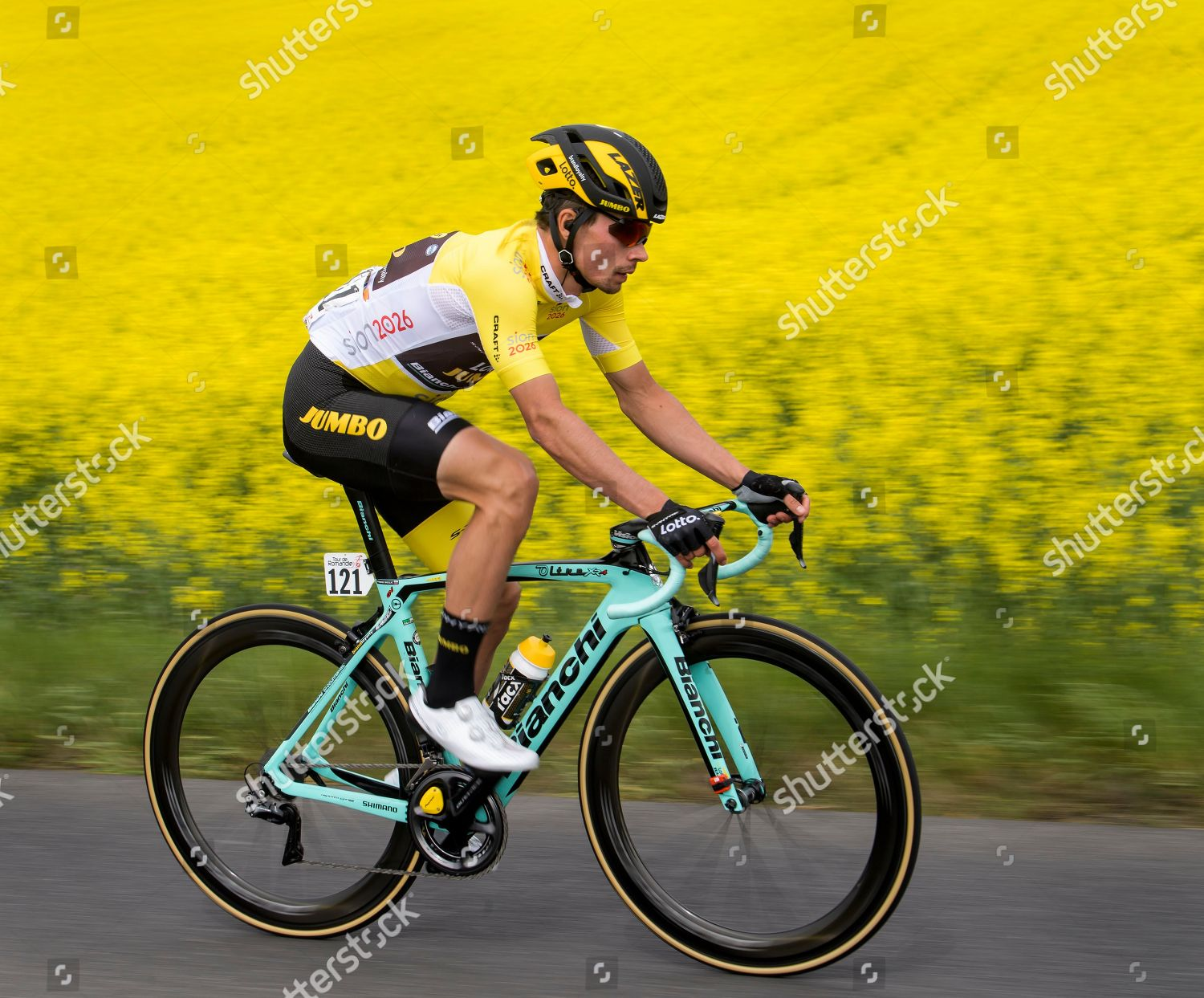 Slovenian rider Primoz Roglic team Lotto NLJumbo Editorial Stock ... c89ff1d26