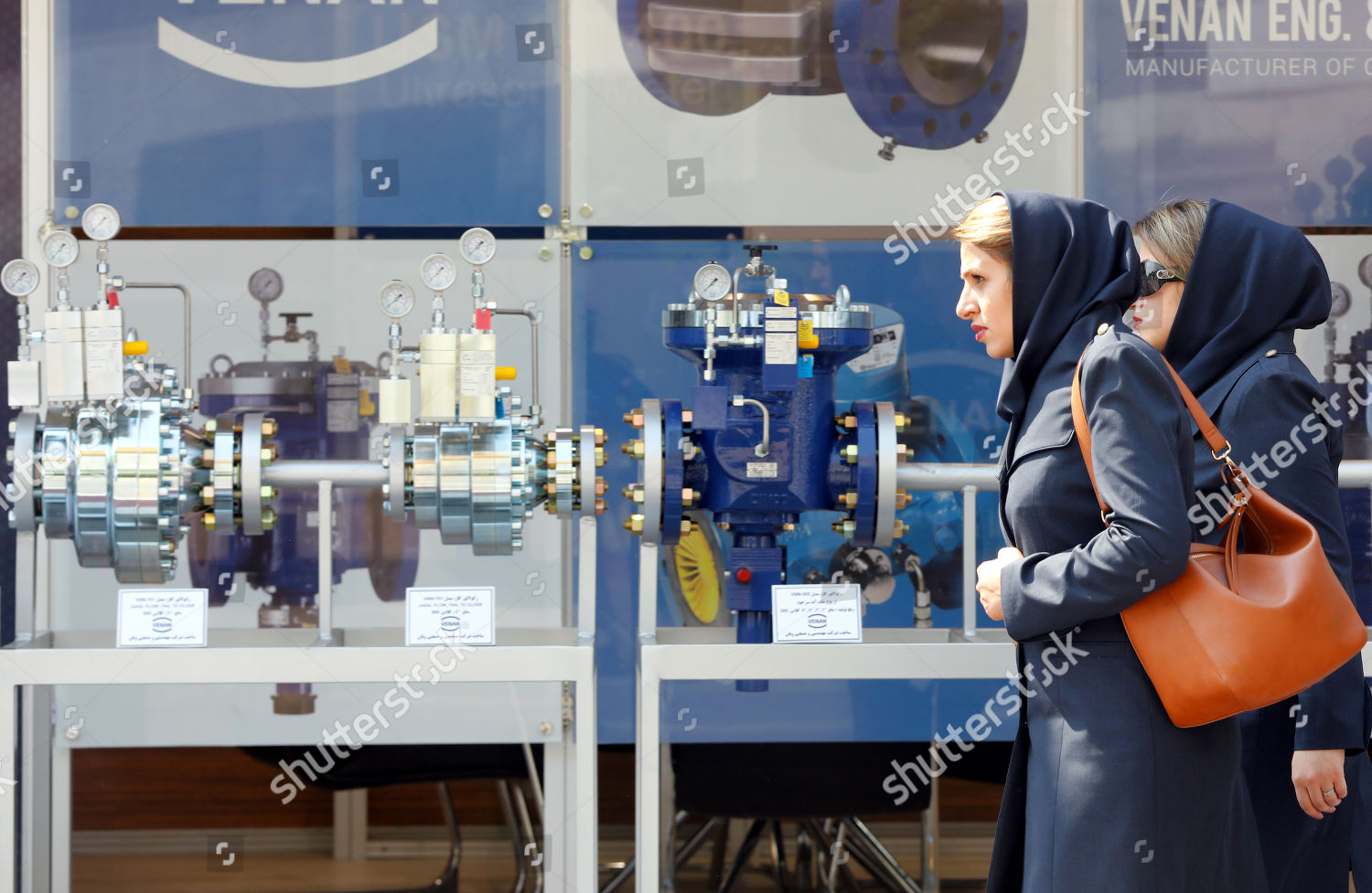 Visitors employees attend Iran Oil Gas Petrochemical