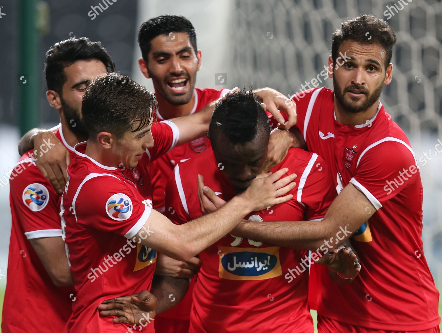 Players Persepolis Irans Club Celebrate After Scoring Editorial Stock Photo Stock Image Shutterstock