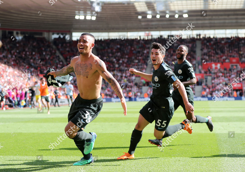 Gabriel Jesus Manchester City Celebrates Scoring Winning Editorial Stock Photo Stock Image Shutterstock