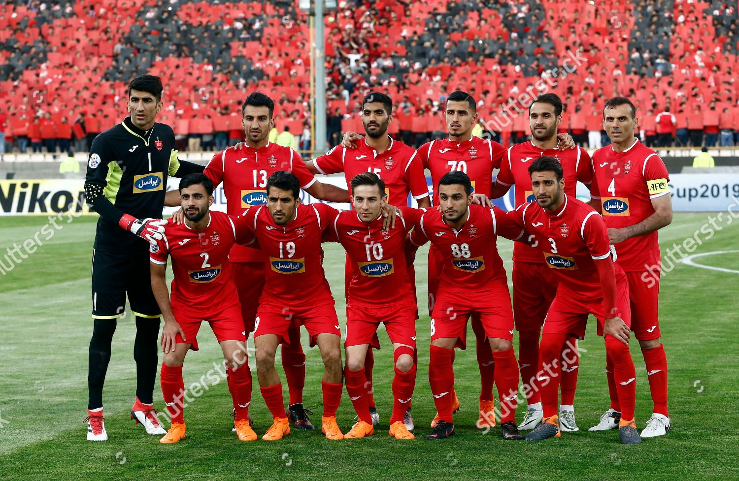 Players Persepolis Pose Team Picture Before Afc Editorial Stock Photo Stock Image Shutterstock