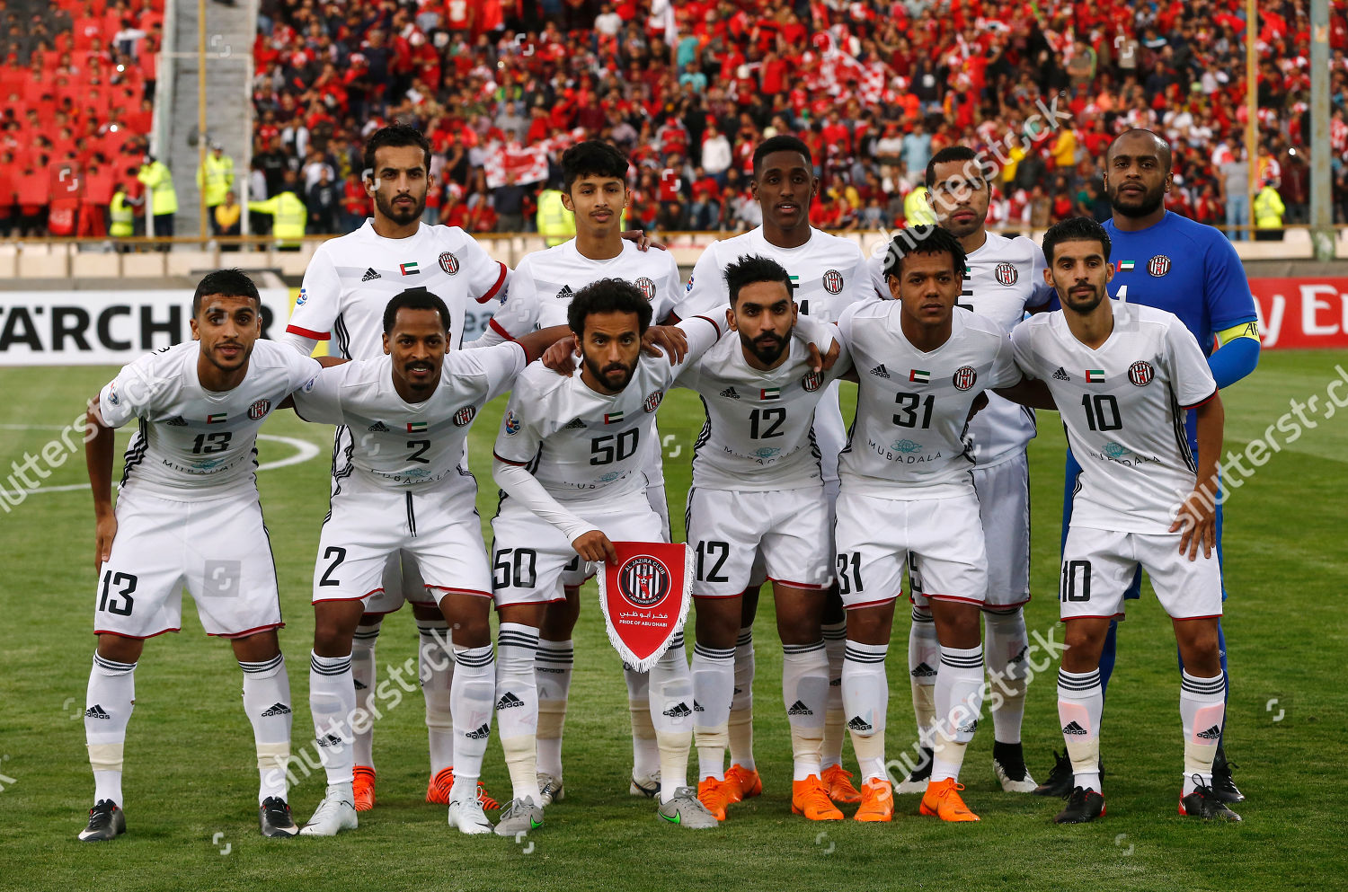 Players Al Jazira Pose Team Picture Before Editorial Stock Photo Stock Image Shutterstock