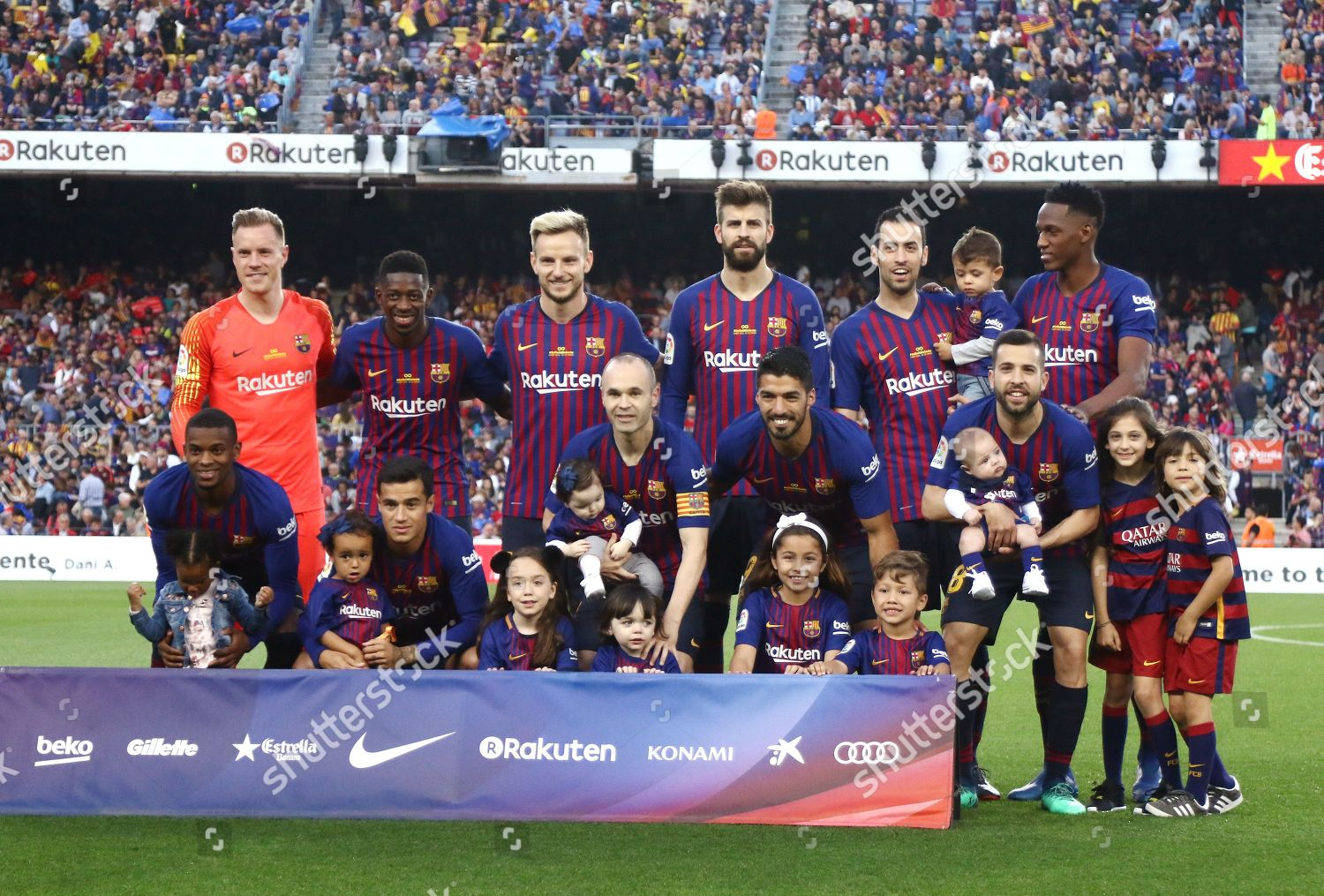 Fc Barcelona Players On Field Team Group Editorial Stock Photo Stock Image Shutterstock