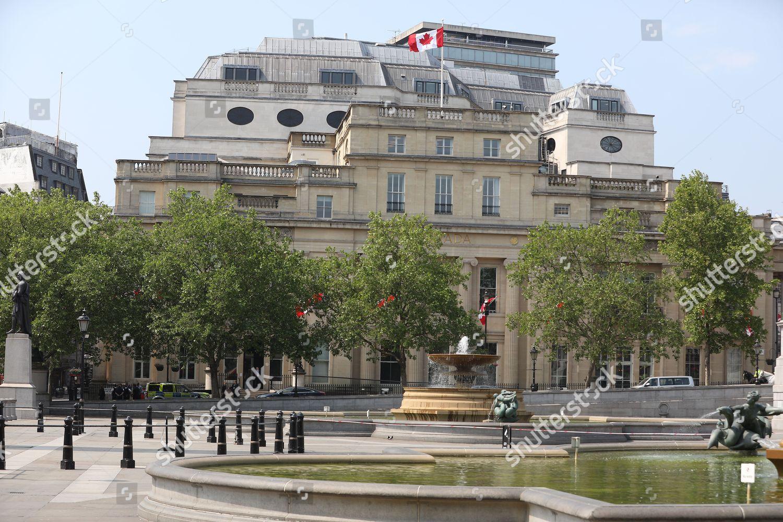 Canadian Embassy Trafalgar Square London Editorial Stock