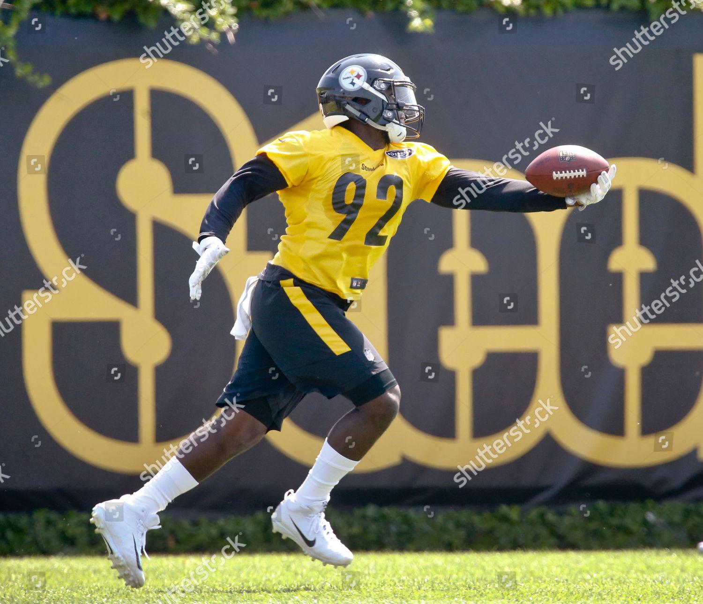 hot sale online 822ff 3b9fc Pittsburgh Steelers defensive end Olasunkanmi Adeniyi 92 ...