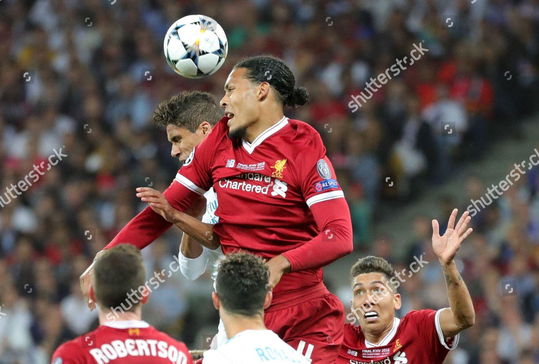 Liverpools Virgil Van Dijk C Goes Header Editorial Stock Photo Stock Image Shutterstock