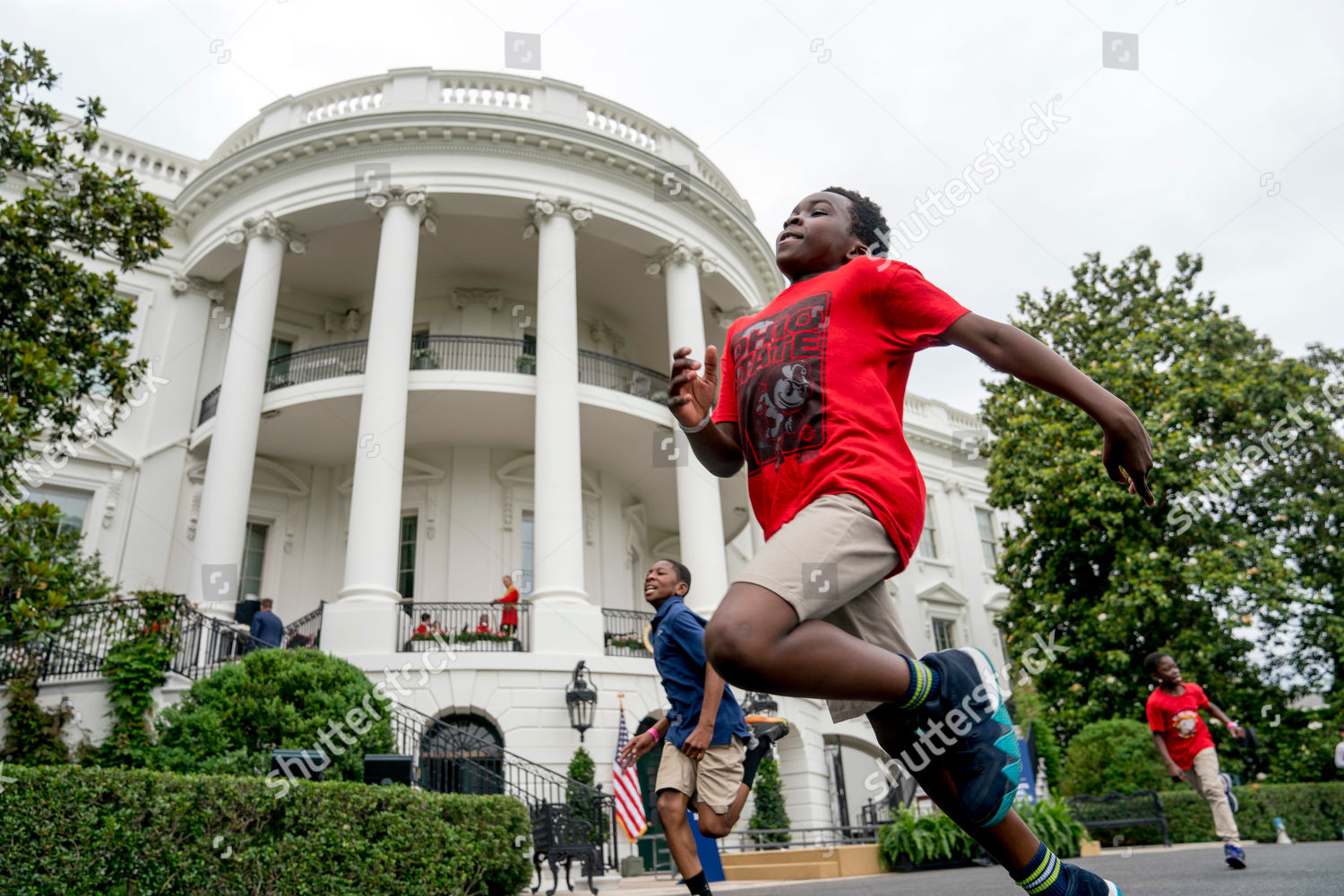 Boys Girls Race During White House Sports Editorial Stock Photo