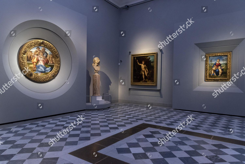 Painting Tondo Doni L By Michelangelo Buonarroti Editorial Stock