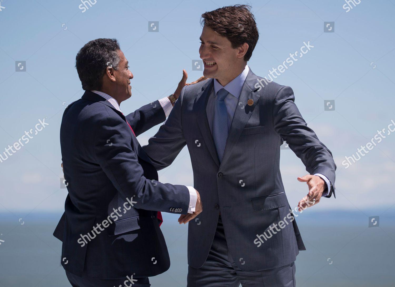 Justin Trudeau Danny Faure Editorial Stock Photo Stock Image