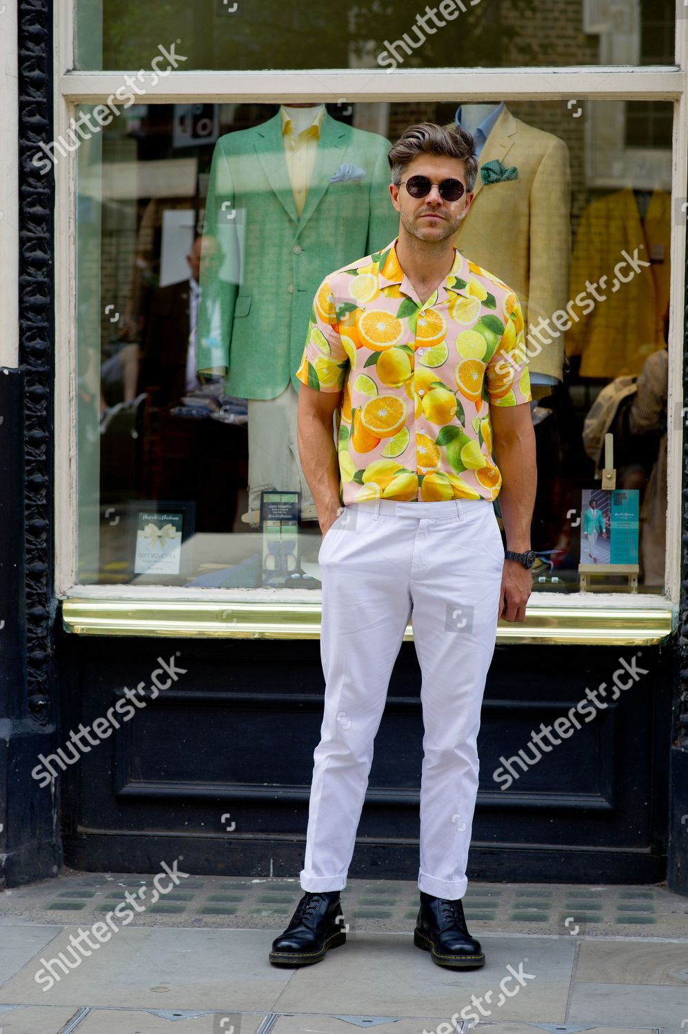 4614f7e06d Darren Kennedy London Fashion Week Mens SS19 Editorial Stock Photo ...