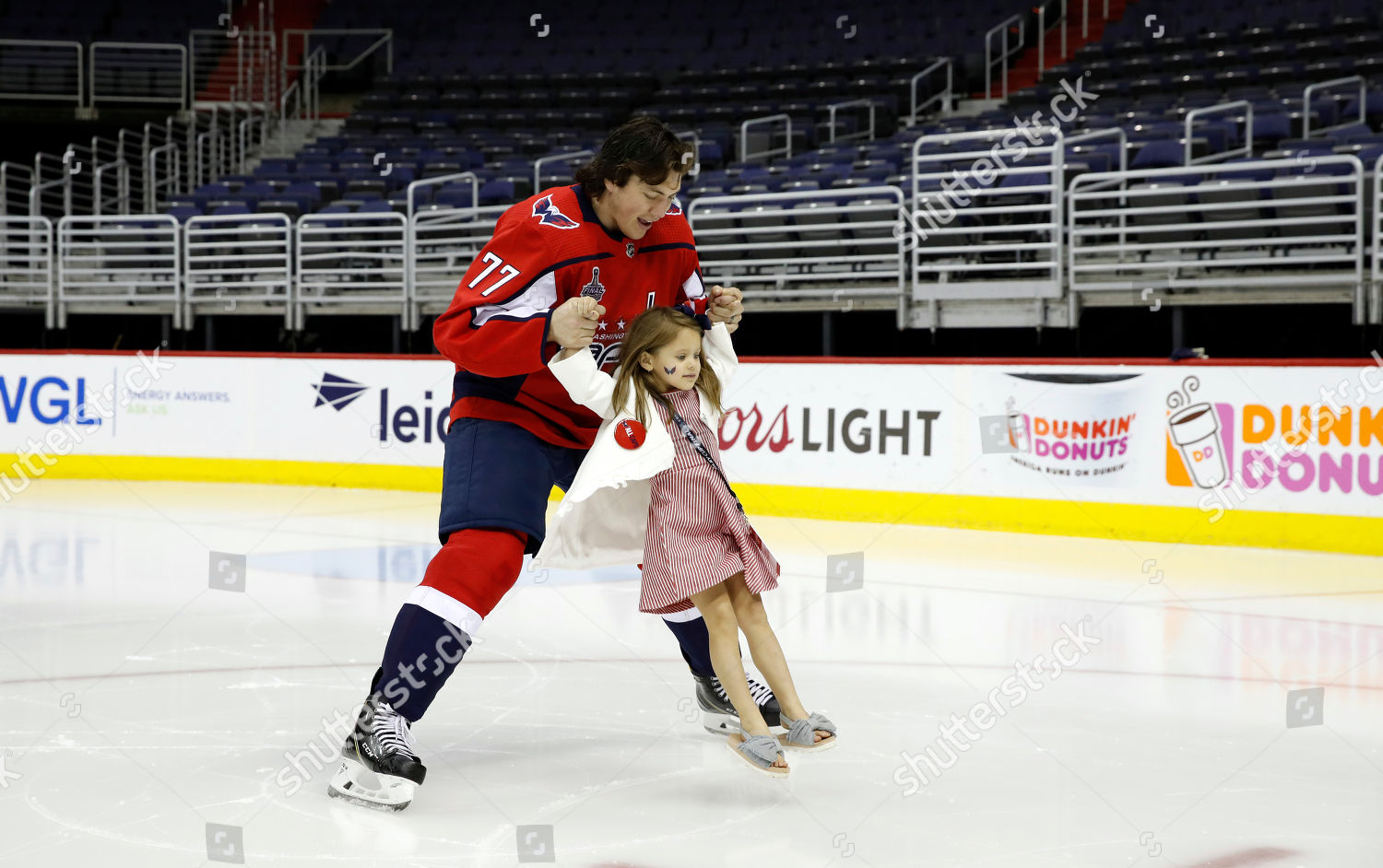 b8857d3c292 TJ Oshie Lyla Oshie Washington Capitals NHL Editorial Stock Photo ...