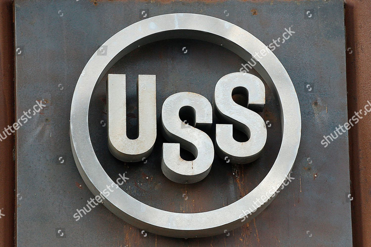 This photo shows sign headquarters US Steel Editorial Stock Photo