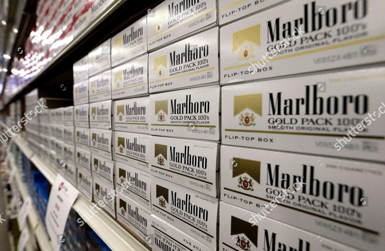 This Photo Shows Cartons Marlboro Cigarettes On Editorial Stock