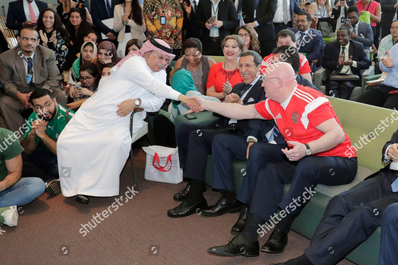 Saudi Arabia Ambassador Abdallah Y AlMouallimi Along Stock Photo