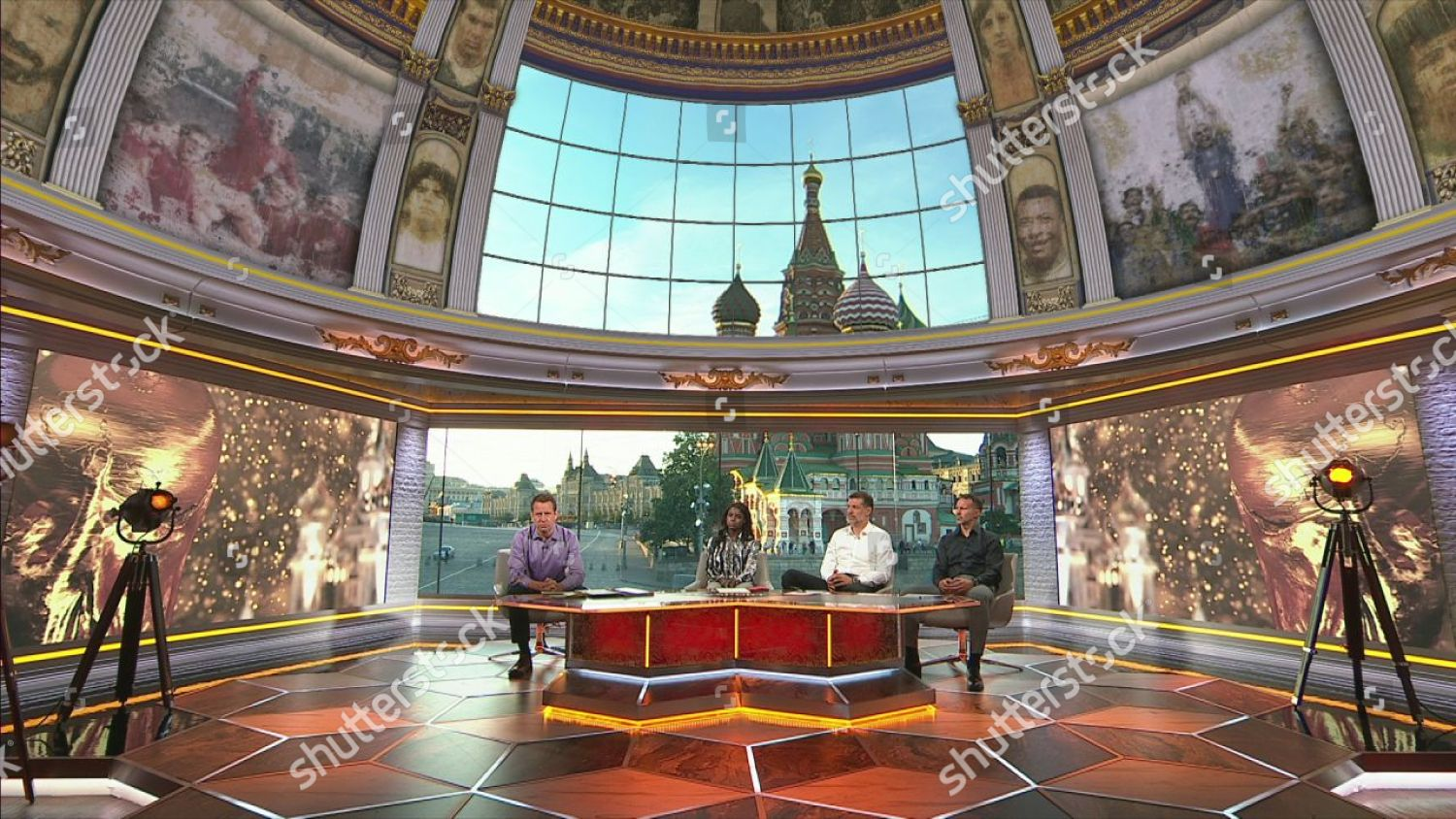 Screen grabs shows ITV World Cup Studio Editorial Stock Photo