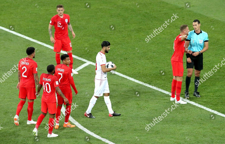 Ferjani Sassi Tunisia prepares take penalty Jordan Editorial