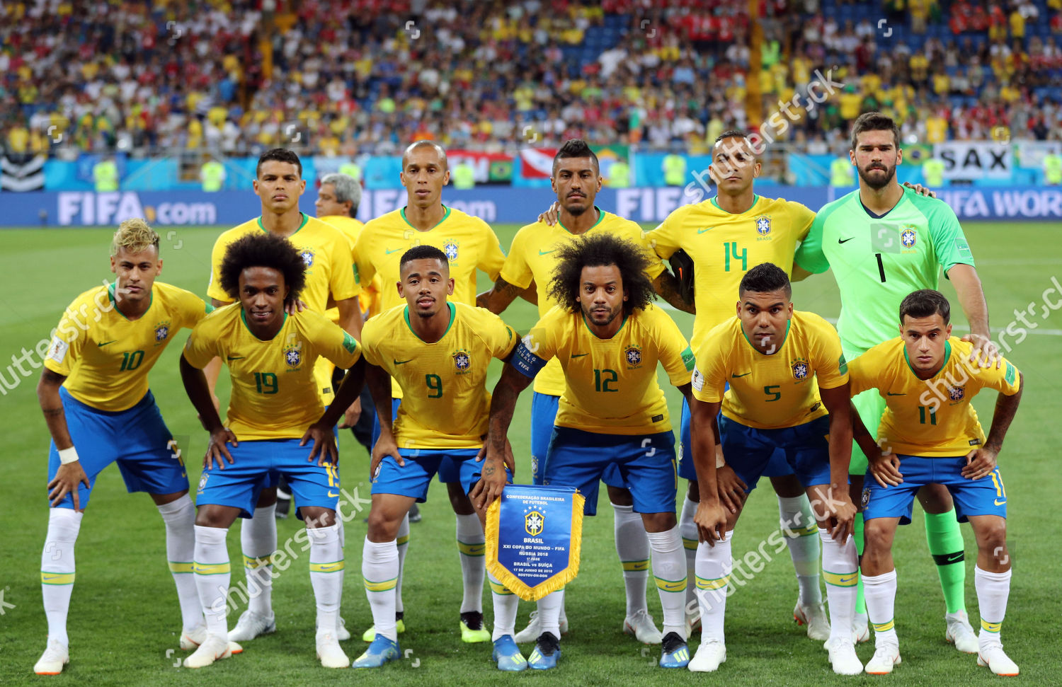 a4fbf2af9 Brazil team group lineup BRA Editorial Stock Photo - Stock Image ...