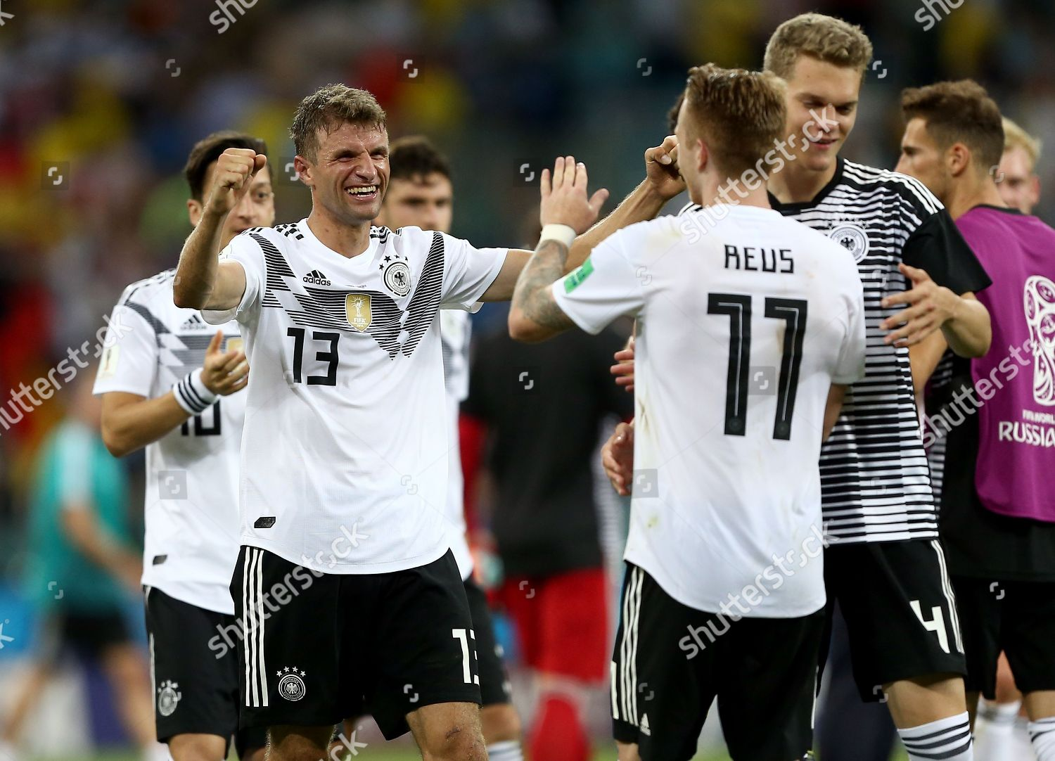 on sale 73a39 c1d24 Thomas Muller Germany Marco Reus Germany celebrate Editorial ...