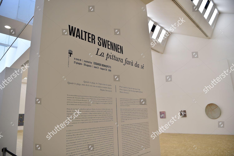 Mostra Design Milano 2018 exhibition by walter swennen la pittura fara editorial stock