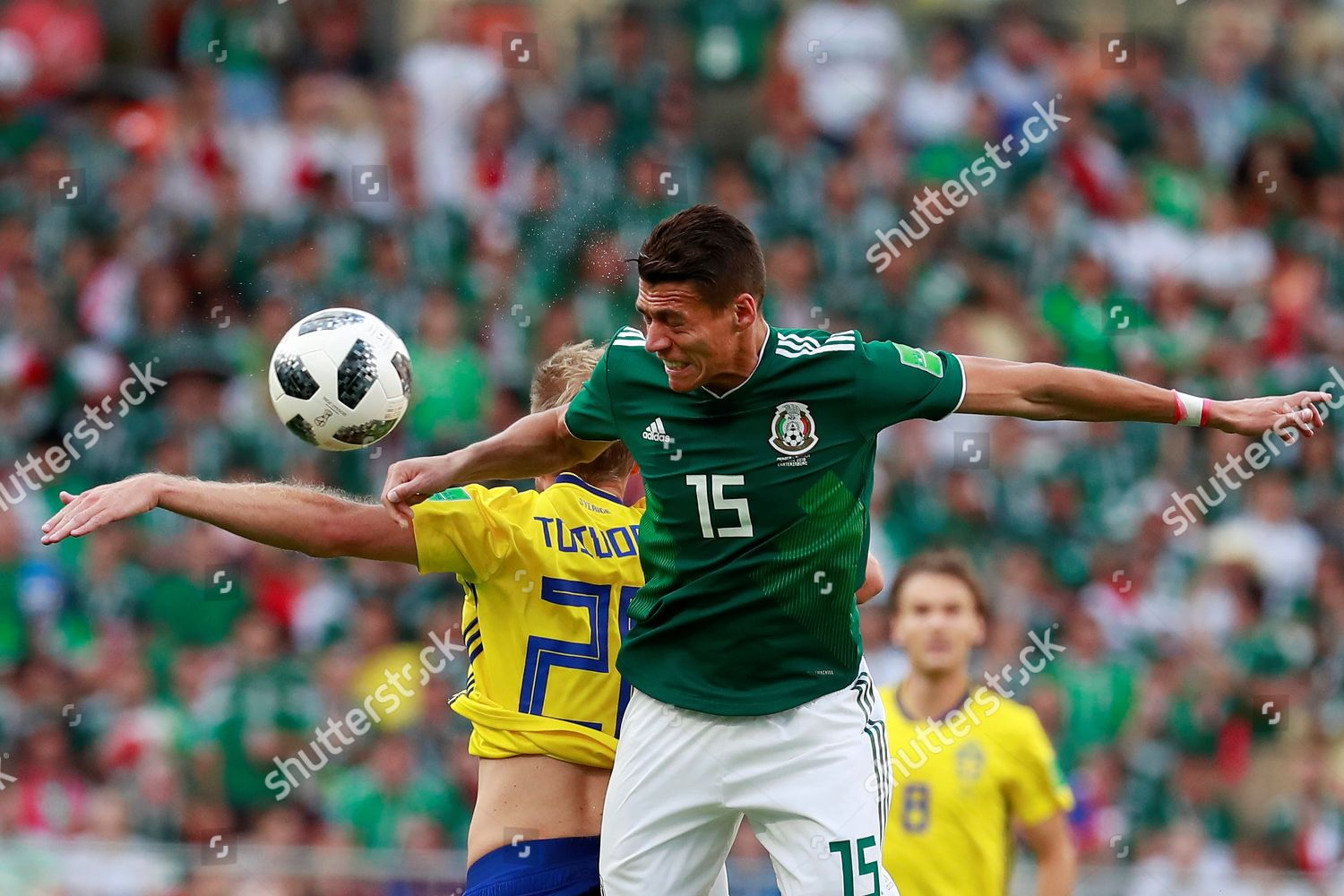 8d5ae603e Mexican defender Hector Moreno R Swedish forward Editorial Stock ...
