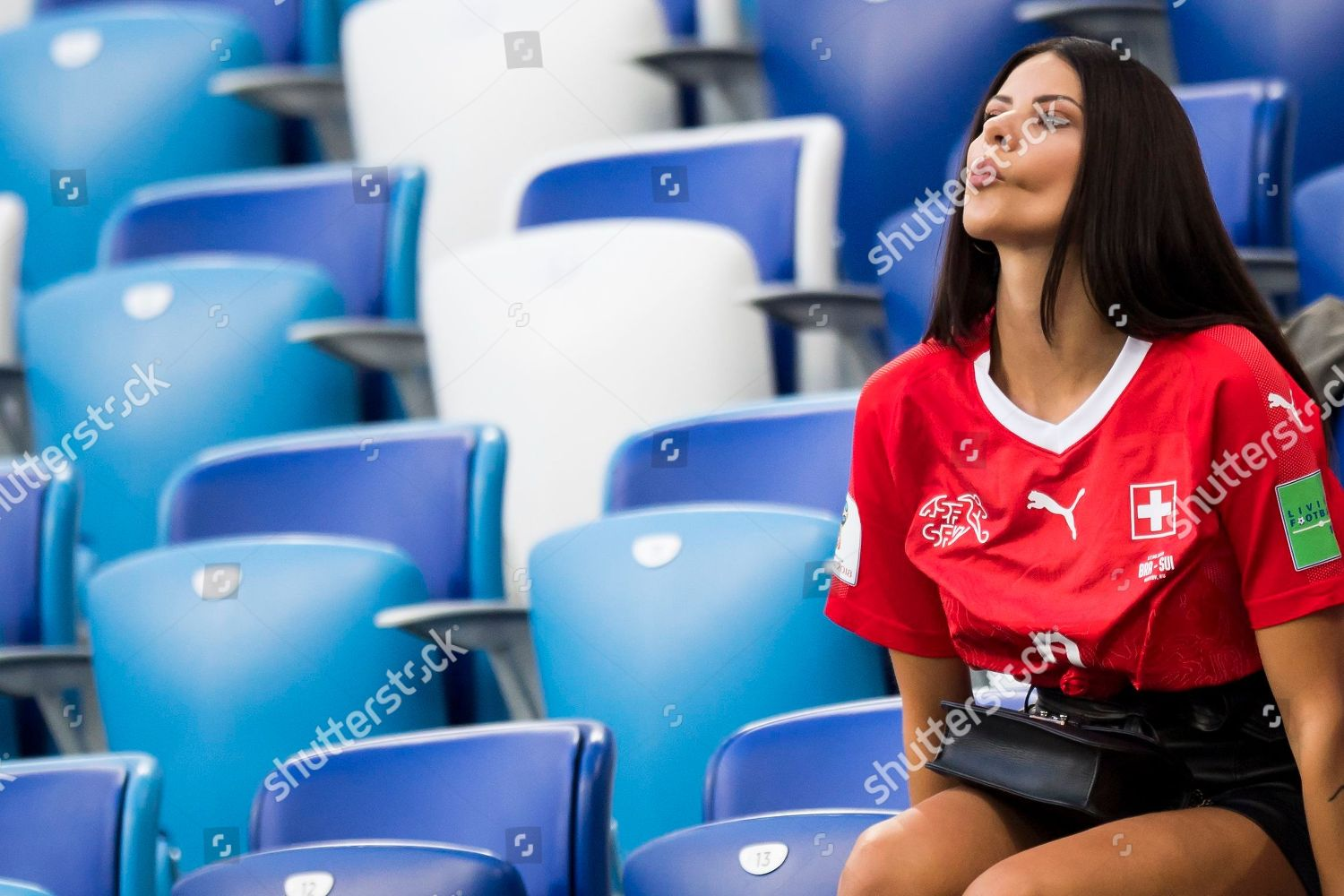 Amina Girlfriend Switzerlands Forward Haris Seferovic Reacts Editorial Stock Photo Stock Image Shutterstock