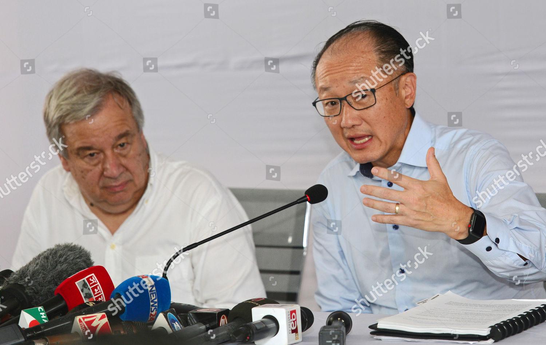 Jim Yong Kim Antonio Guterres Editorial Stock Photo - Stock