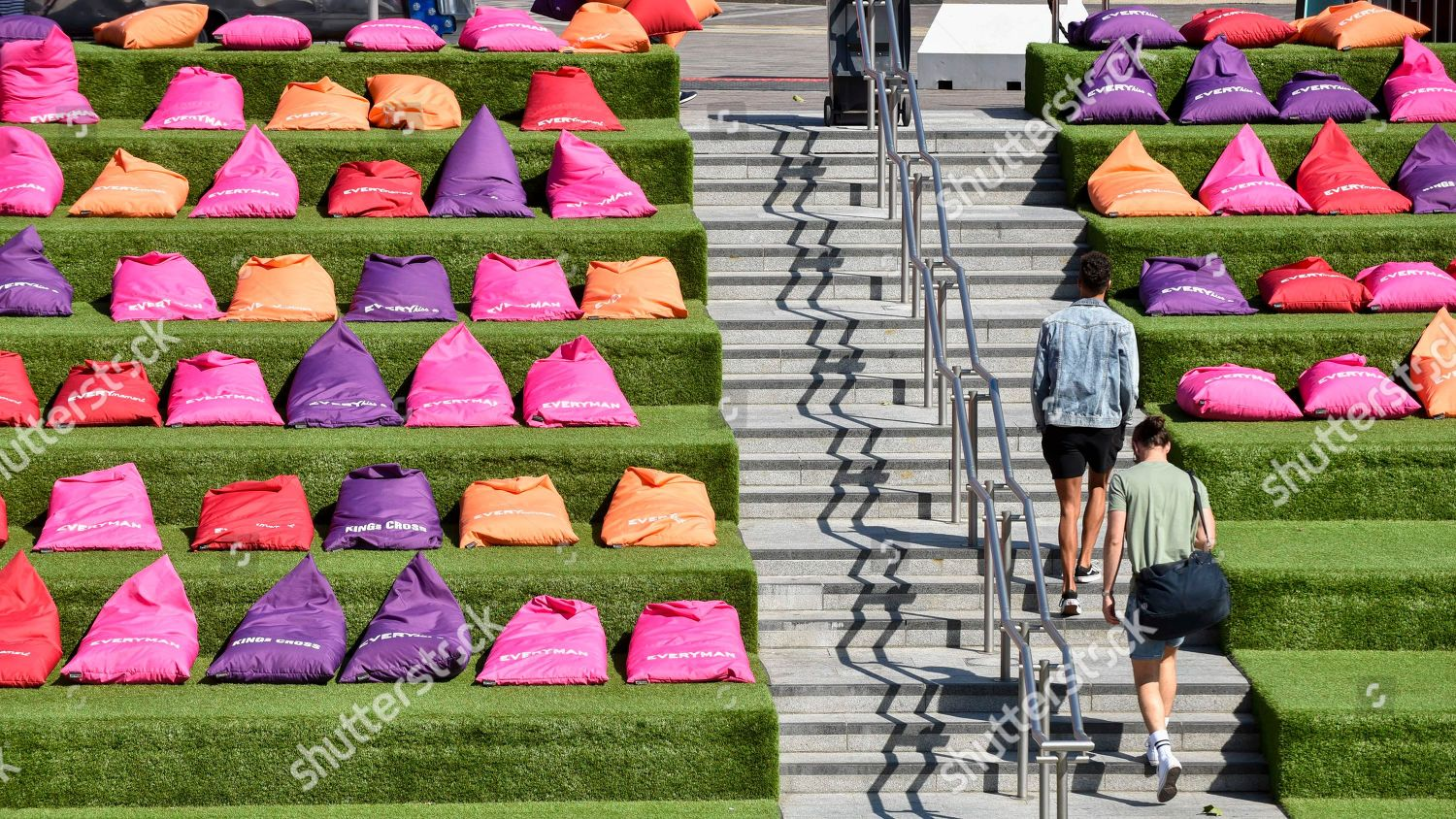 Miraculous Brightly Coloured Beanbags Set Out On Steps Editorial Stock Uwap Interior Chair Design Uwaporg