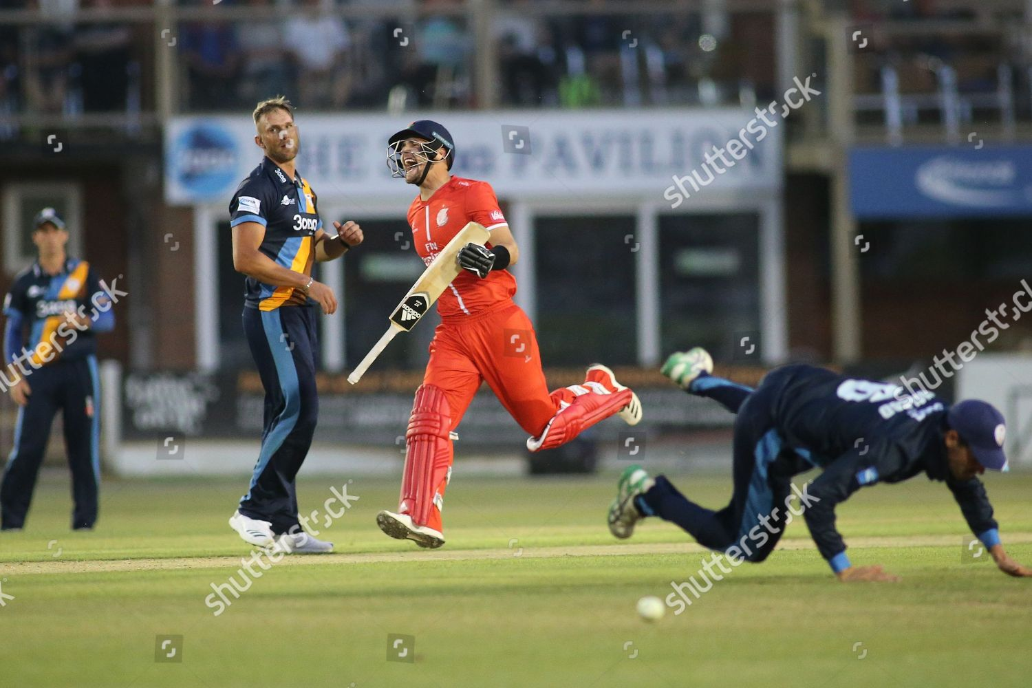 Liam Livingstone Lancashire Lightning celebrates getting 100