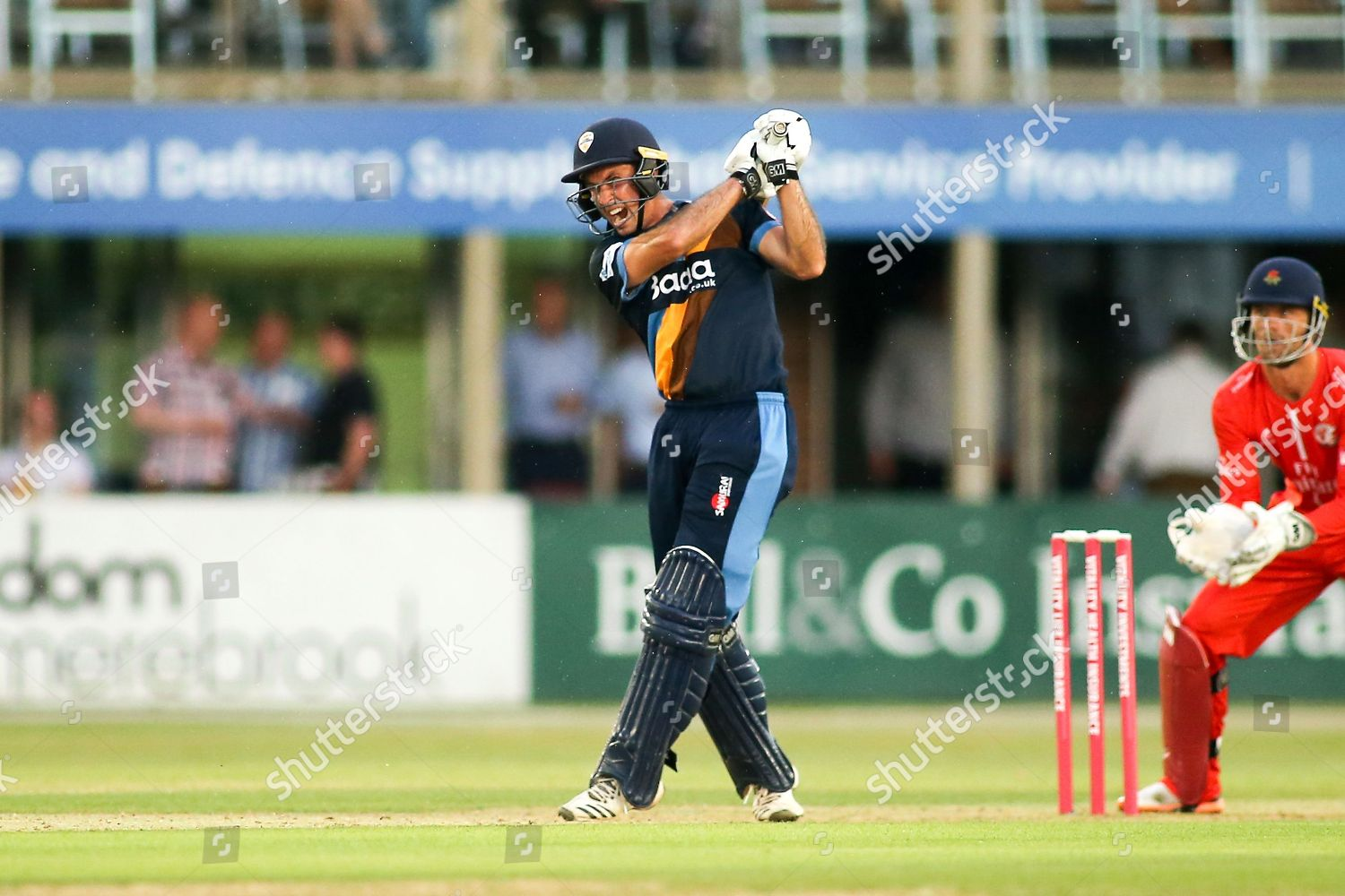 Wayne Madsen Derbyshire Falcons during Natwest T20 Editorial Stock