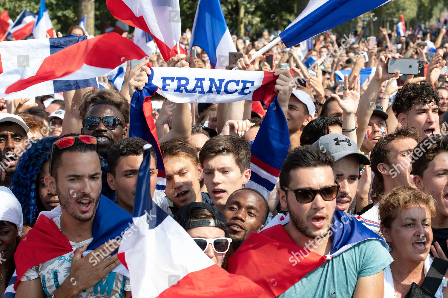 7e17c677b86 French soccer fans react during FIFA World Editorial Stock Photo ...