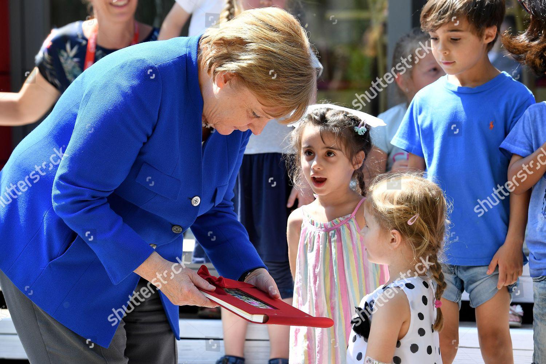 Children Caritas Nursery Wish German Chancellor Angela Editorial Stock Photo Stock Image Shutterstock