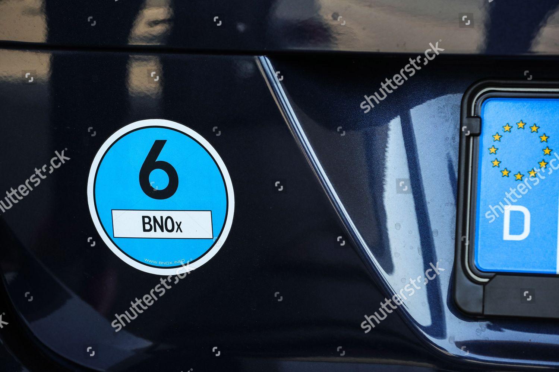 Euro 6 Sticker Seen On Wv Passat Editorial Stock Photo