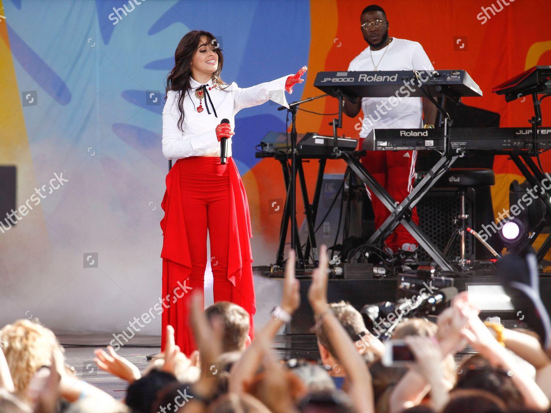 Camila Cabello performs on ABCs Good Morning Editorial Stock