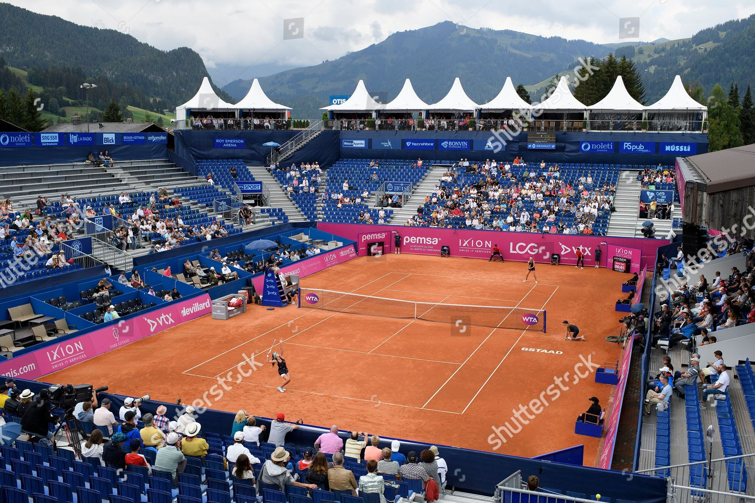 general view Roy Emerson Arena during final Editorial Stock Photo