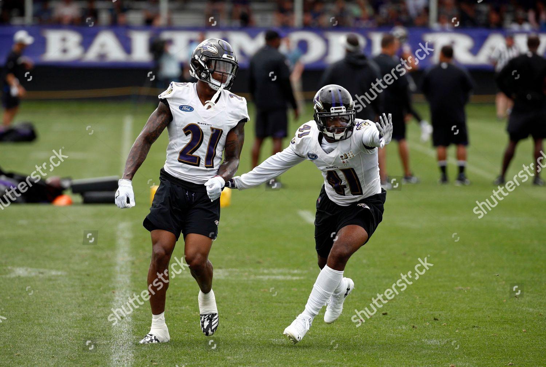 outlet store ad8b9 5f694 Baltimore Ravens defensive backs DeShon Elliott left ...