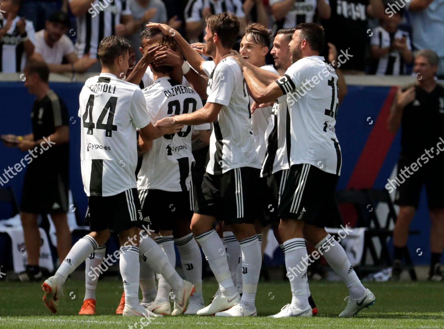 Juventus Players Celebrate Goal By Luca Clemenza Editorial Stock Photo Stock Image Shutterstock