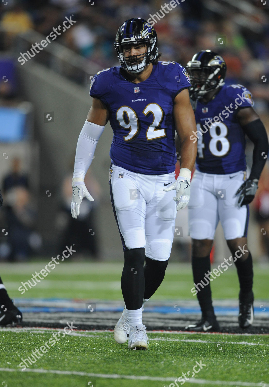size 40 362ed ee56a nd Ravens 92 Bronson Kaufusi during Chicago Editorial Stock ...