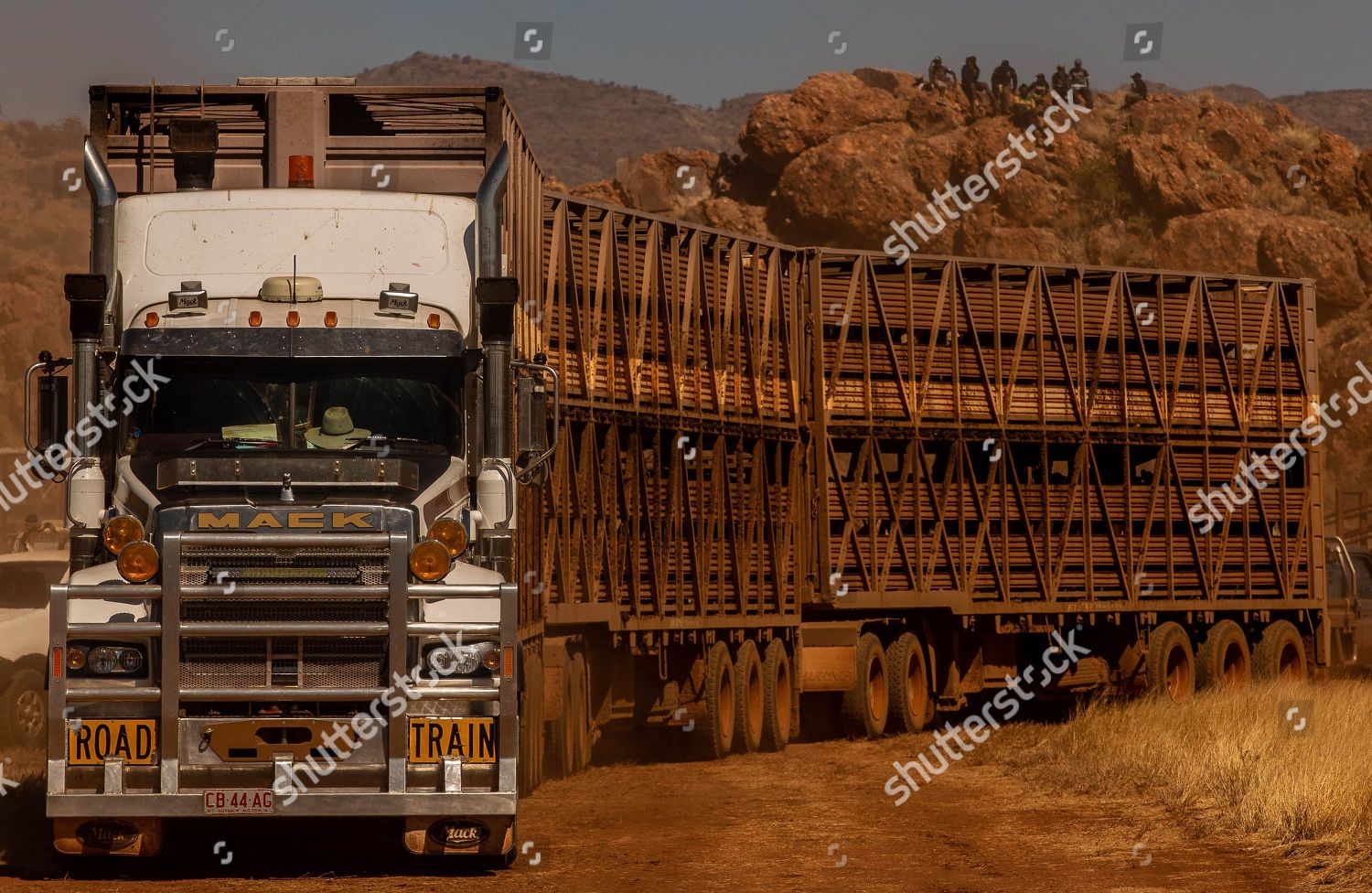 semi trailer pulls unload stock during 71st Editorial Stock Photo